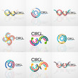 Set of line circles logos - 191380690