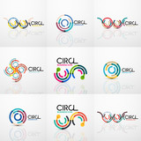 Set of line circles logos - 191380690