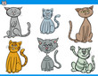 funny cartoon cats characters set - 191384290