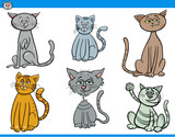 funny cartoon cats characters set - 191384290