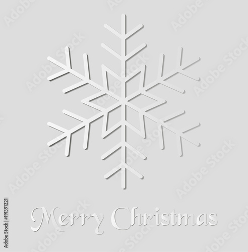 Foto op Canvas Wit Paper snowflakes for a Christmas card, design for a congratulatory message. Vector illustration