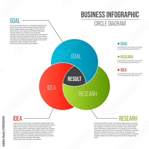 Creative vector illustration of business presentation slide template creative vector illustration of business presentation slide template circle venn diagram isolated on transparent background ccuart Images