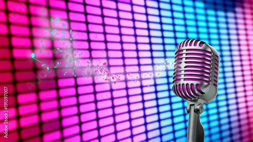 retro-mikrofon,-kolorowe-tlo,-plakat