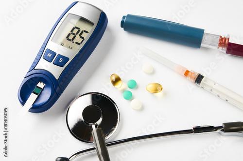 Medicine, diabetes, glycemia, health care concept