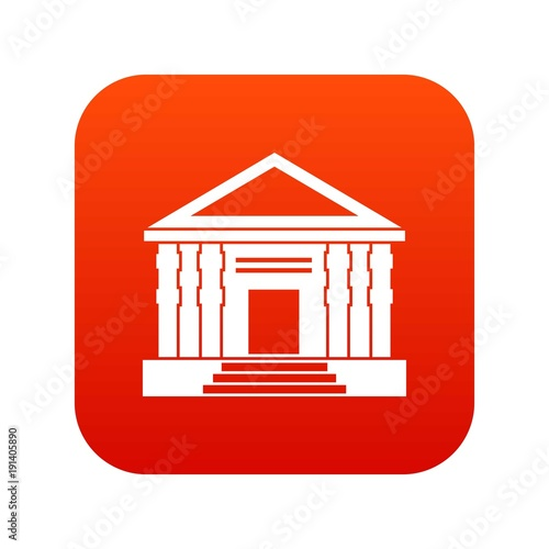 Colonnade icon digital red