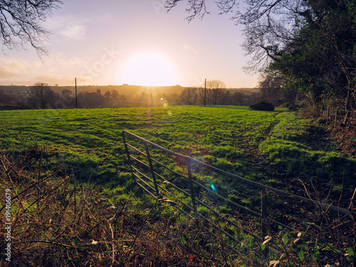 Aluminium Zomer winter countryside morning,Northern Ireland