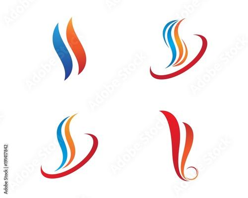 Fotobehang Abstractie Fire flame Logo Template