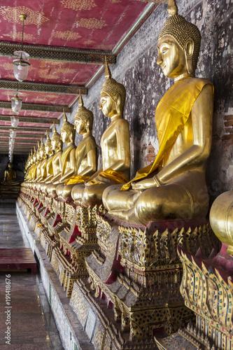 Fotobehang Boeddha Buddhist temple in Bangkok ,Asia Thailand