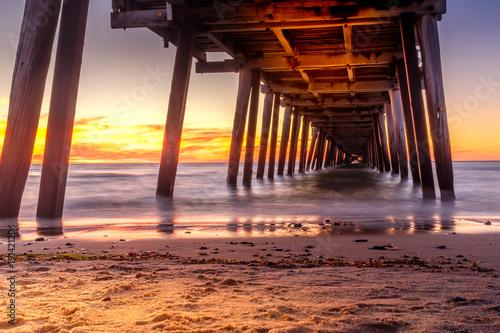 Foto op Aluminium Zee zonsondergang Glenelg Pier Sunset