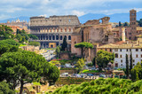 Forum Romanum and Colosseum in the Old Town of Rome, Italy