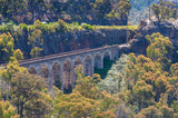 View on old historic railway viaduct - 191436020