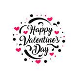 Happy Valentine's Day text design. - 191441281
