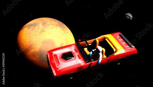 Fotobehang Heelal The car in space