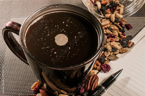 Foto op Plexiglas Koffiebonen Semillas