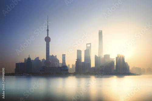 Foto op Canvas Shanghai Shanghai city in the morning