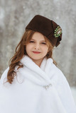 Little girl in a hat outdoor - 191455285