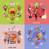 Circus Cartoon Concept