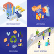 Garbage Recycling Isometric Design Concept