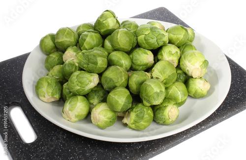 Fotobehang Brussel Choux de Bruxelles. Sprouts