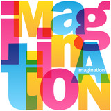 IMAGINATION Overlapping Vector Letters Icon - 191467264