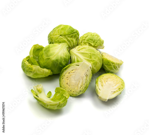 Papiers peints Bruxelles Green Brussel Sprouts Isolated