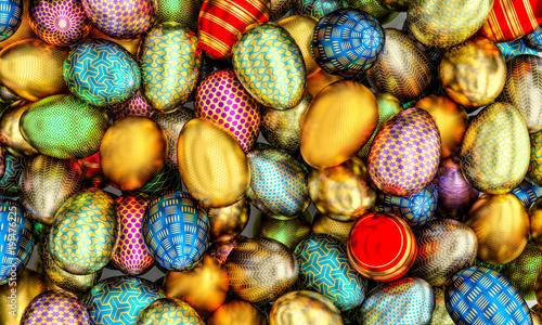 artistic golden egg