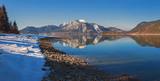 Morgenstille am Walchenseeufer mit schöner Spiegelung - 191483600