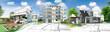Leinwandbild Motiv Concept immobilier et construction de maison