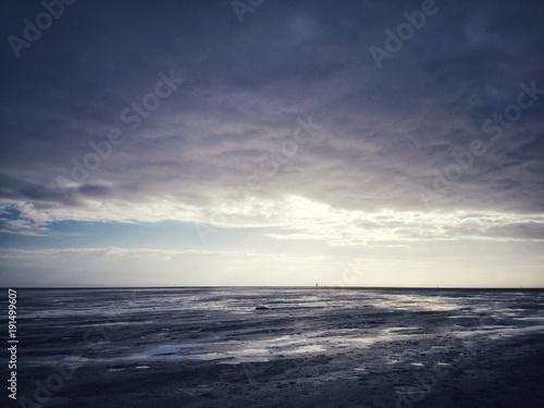 Aluminium Noordzee Dark North Sea Mud Flat