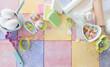 Leinwanddruck Bild - Bunte Zutaten zum Backen