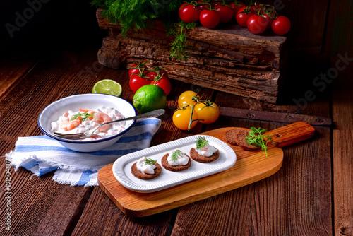 In de dag Noordzee rustic crab salad