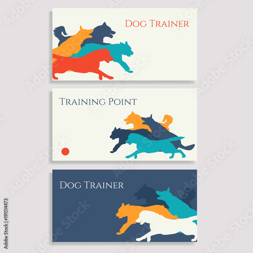 Dog sport leaflets trainer business cards dog sport brochures set dog sport leaflets trainer business cards dog sport brochures set of cards with colourmoves
