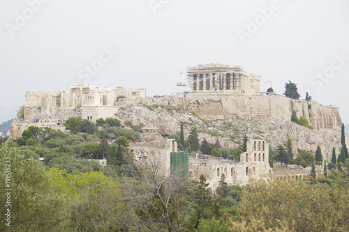 In de dag Athene The ancient citadel of the Acropolis of Athens, Greece