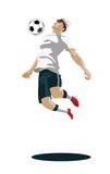 2698399 Soccer Player Kicking Ball. Vector Illustration