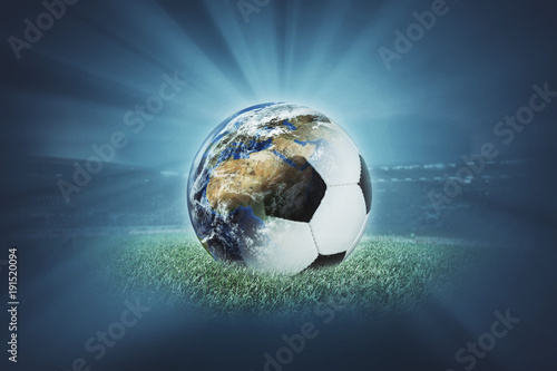 Tuinposter Bol Welt - Fußball