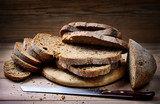 Sliced rustic bread. Whole grain bread with seeds - 191521267