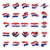 Croatia flag, vector illustration - 191523053