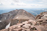 Landscape view from the top of Long's Peak, a fourteener in Colorado.