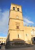 Torre campanario de la catedral y Ayuntamiento de Badajoz, Extremadura, España - 191529822