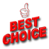 Stock Illustration - Red Best Choice, Red Glitter Thumb Up, 3D Illustration. - 191530823