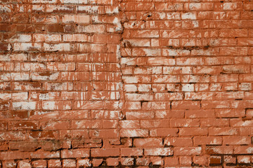 Red Painted Brick Background