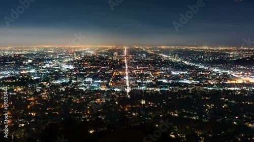 Los Angeles Skyline from Griffith Observatory in California USA