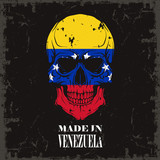 Skull Color Of The Flag Wall Sticker
