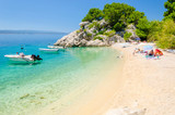 beautiful beach in Brela in Makarska riviera, Dalmatia, Croatia - 191536461