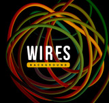 Electrical wires of different colors. Vector illustrtation - 191539419