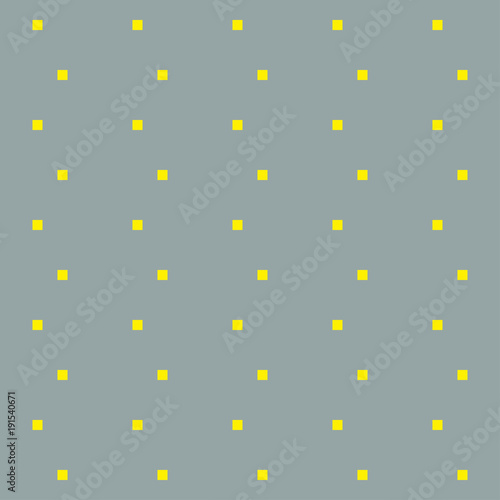 Vector background. Yellow squares on gray backgrond. Geometric background - 191540671