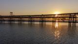 Muelle del Tinto en Huelva al atardecer - 191542887