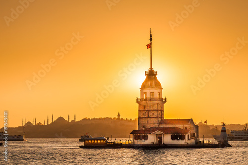 Maiden Tower or Kiz Kulesi Istanbul, Turkey