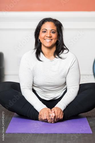 Fotobehang School de yoga Home Gym Workout