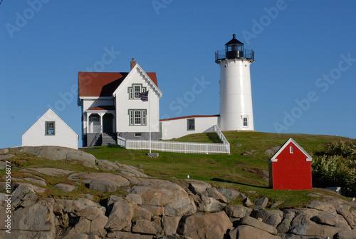 Fotobehang Vuurtoren Nubble Lighthouse